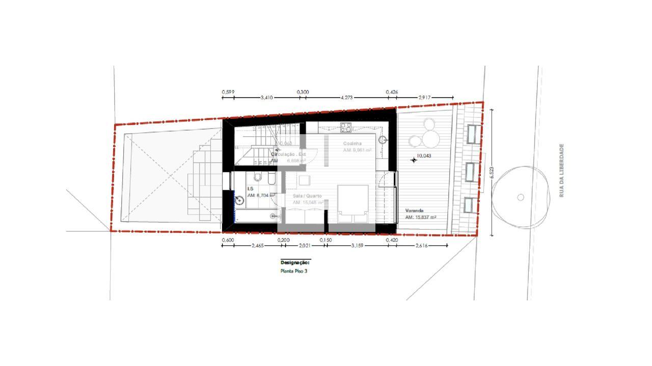 Apartamento T0 c/ Terraço  - Figueira Da Foz, Buarcos e São Julião